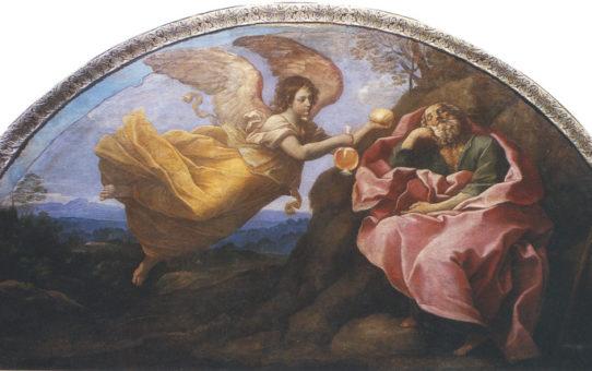 La lunetta con ELIA E L'ANGELO nella navata del Duomo di Ravenna