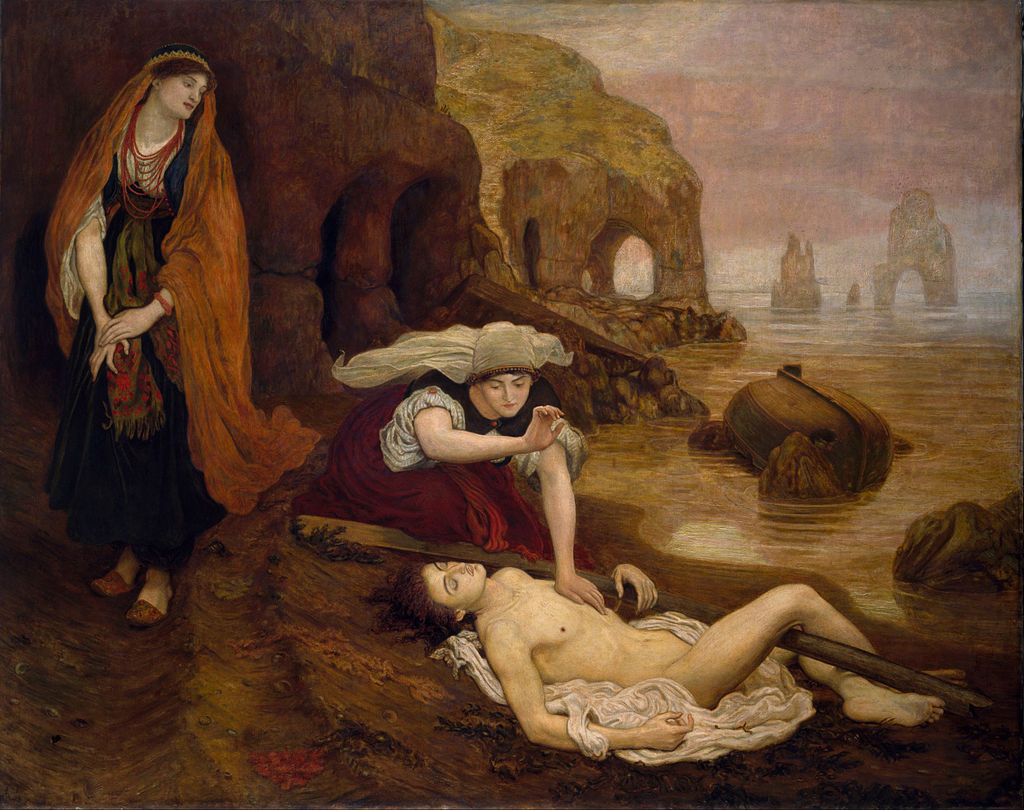 Zoe e Haidée trovano Don Giovanni, Ford Madox Brown, Birmingham Museum and Art Gallery