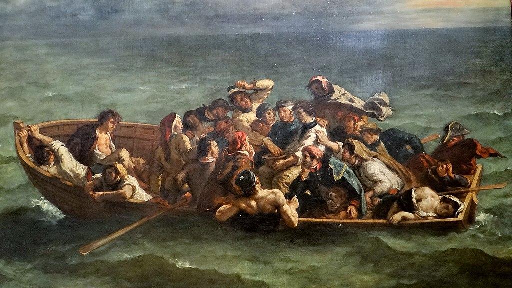 Il naufragio di Don Juan, Delacroix (1840), Museo del Louvre