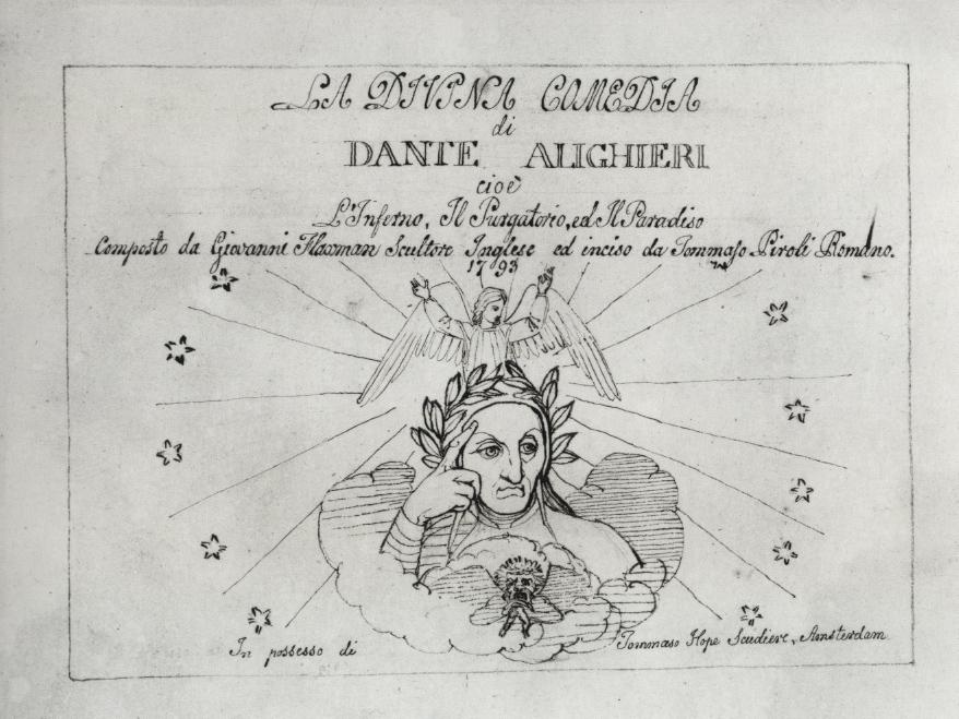 John Flaxman, Frontespizio a La Divina Commedia