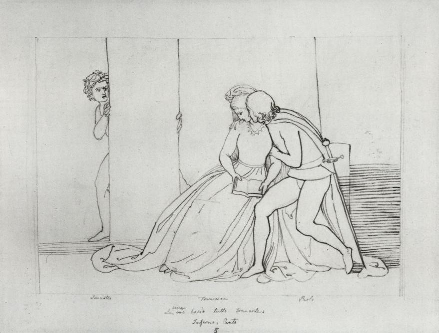 John Flaxman, Il bacio di Paolo e Francesca