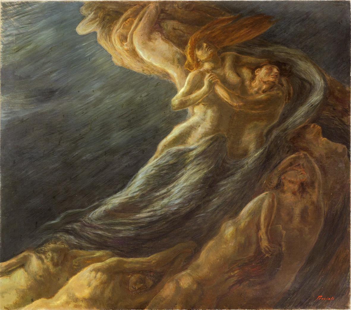 Gaetano Previati, Paolo e Francesca nel vortice infernale