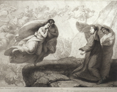 Francesco Scaramuzza, Il colloquio di Dante con le anime di Palo e Francesca