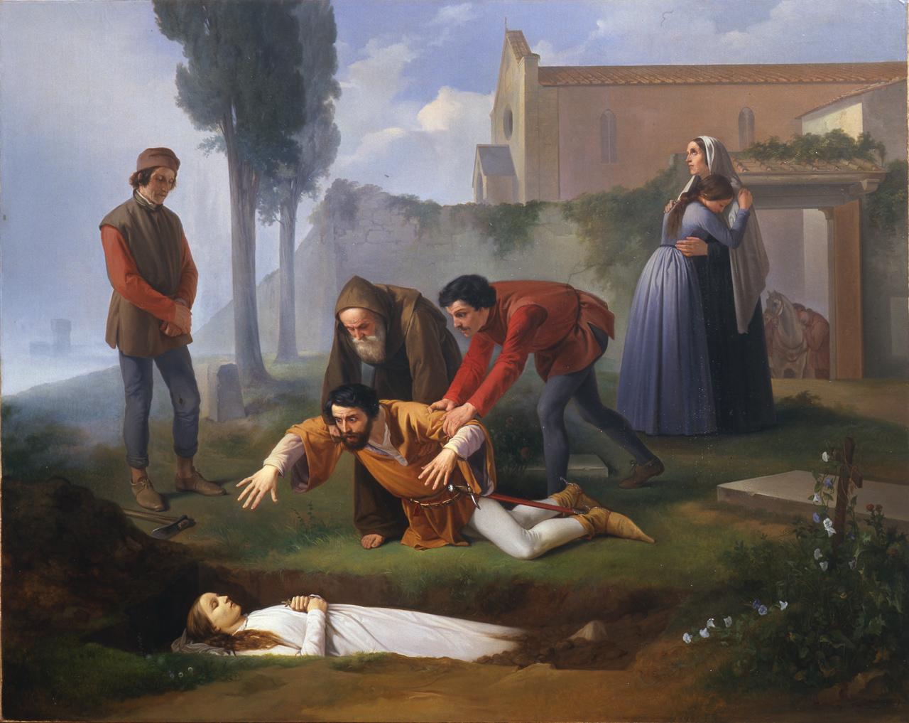 Enrico Pollastrini, Nello alla tomba di Pia